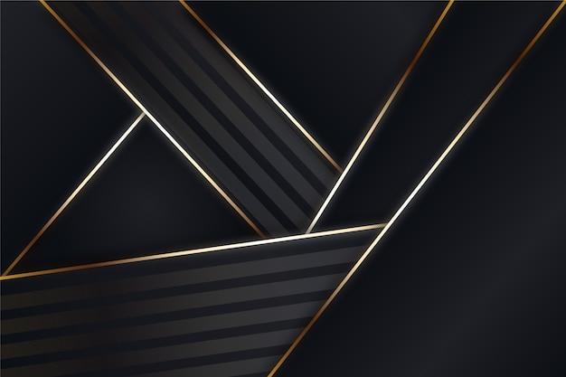 Formes géométriques sur fond sombre