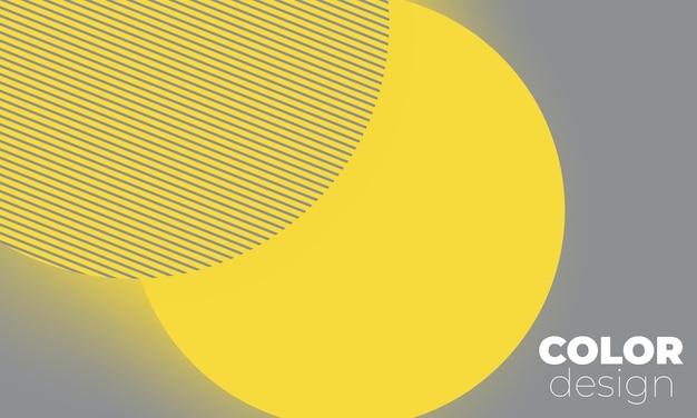 Formes géométriques jaunes et grises conception de couverture abstraite minimale.