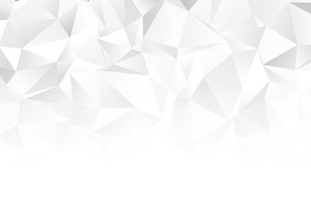 Formes géométriques monochromes blanches