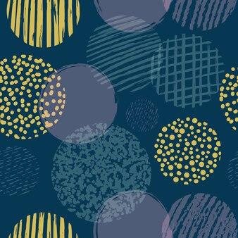 Formes géométriques avec motif sans soudure de cercles texturés
