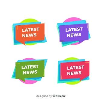 Formes géométriques plat ensemble de bannière dernières nouvelles