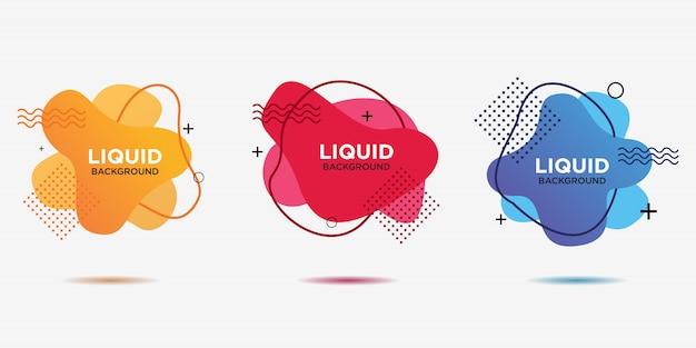 Formes géométriques plates de différentes couleurs avec contour dans le style de conception de memphis.