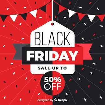 Formes géométriques avec les ventes de vendredi noir