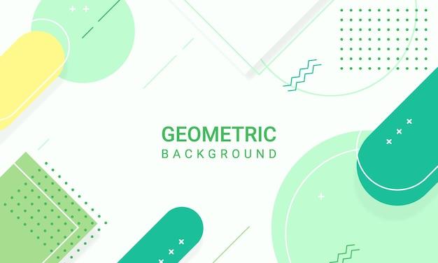 Formes géométriques vertes abstraites de fond d'éléments modernes