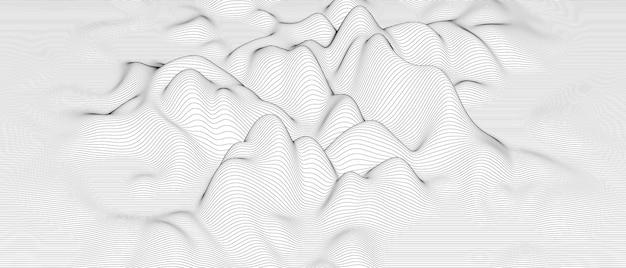 Formes de lignes déformées sur fond blanc.