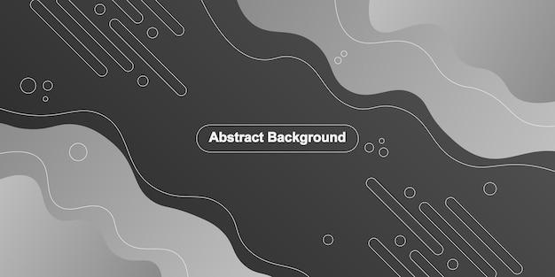 Formes de lignes ondulées et arrondies dégradées grises sur fond noir. abstrait. illustration vectorielle.