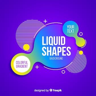Formes liquides centrées avec des formes géométriques