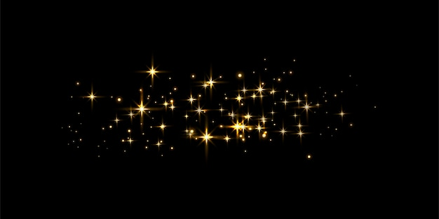 Formes de lumières scintillantes d'or. concept abstrait pour votre conception. illustration vectorielle.