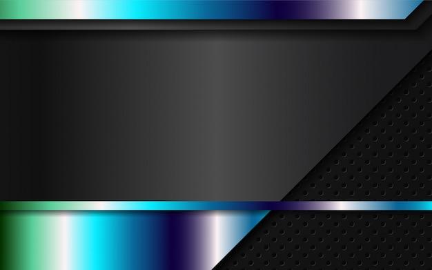 Formes métalliques abstraites sur fond noir