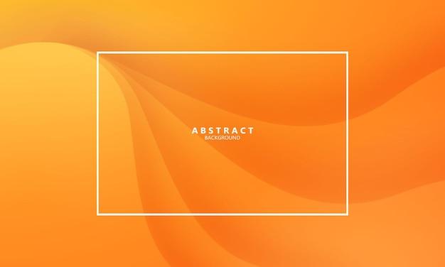 Formes modernes abstraites vague orange