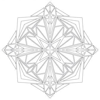 Formes noires et blanches pour cahier de coloriage
