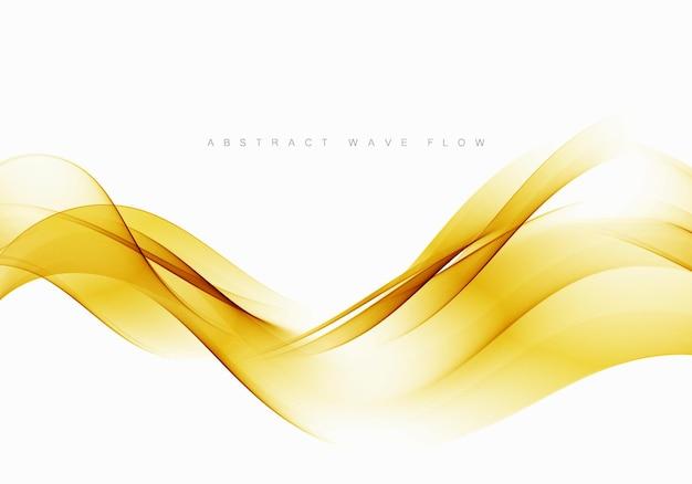 Formes ondulées abstraites de flux jaune transparent modèle de brochure, affiche, bannière, présentation.
