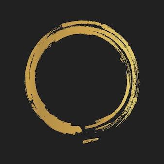Formes peintes vintage golden grunge. illustration vectorielle.