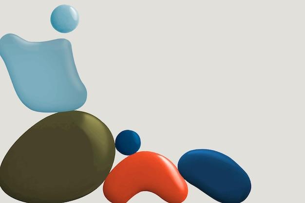 Formes de peinture colorée frontière vecteur fond gris dans un style moderne
