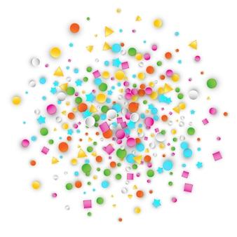 Formes en plastique colorées