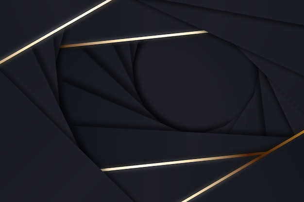 Formes de style géométrique sur fond sombre