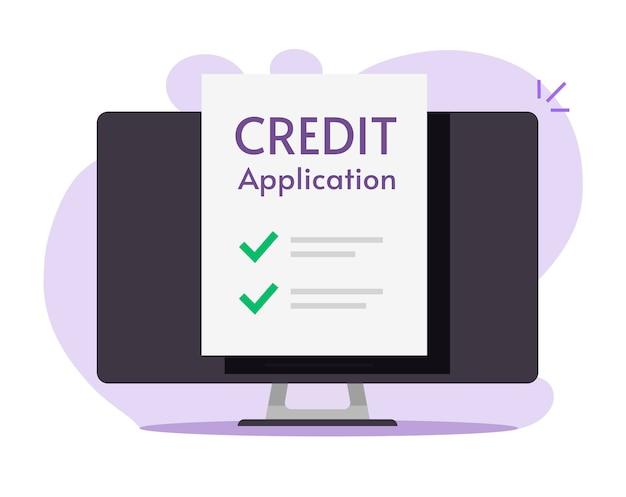 Formulaire de demande de crédit ou de prêt en ligne