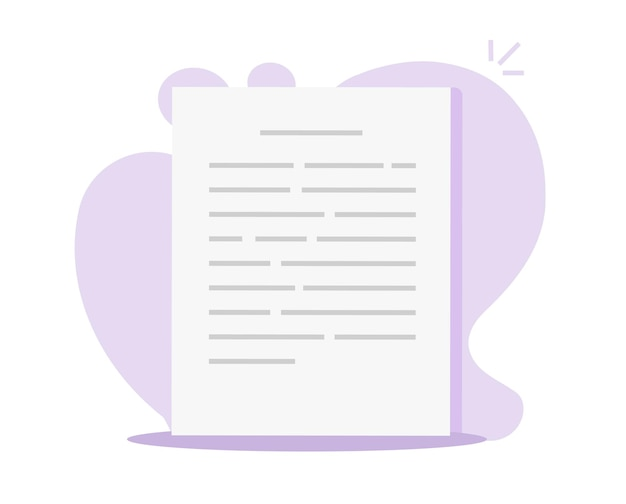 Formulaire de fichier texte ou de document lettre