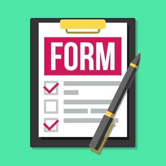 Formulaire de réclamation. documents médicaux, de bureau