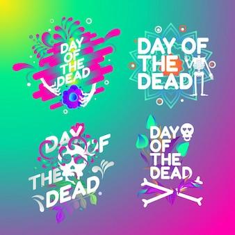 Formulaires de logo du jour des morts