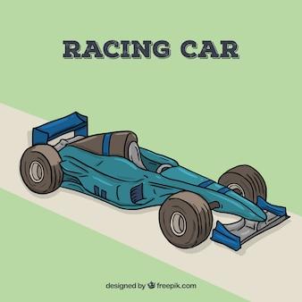 Formule bleue voiture de course