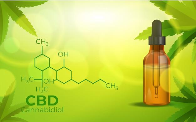 Formule Chimique Cbd, Culture De La Marijuana, Cannabinoïdes Et Santé Vecteur gratuit