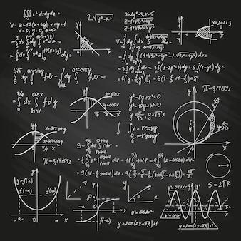 Formules scientifiques sur tableau noir