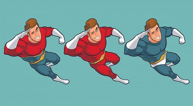 Personnage De Dessin Animé Super Héros Montrant Le Pouce En
