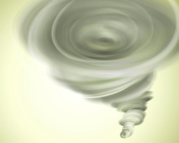 Fort effet de tourbillon de tornade en 3d