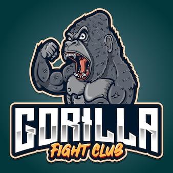 Fort logo d'arts martiaux mixtes esport de gorille