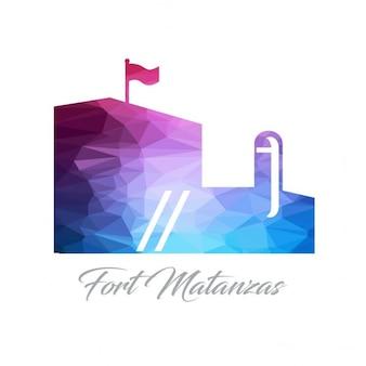 Fort matanzas monument polygon logo