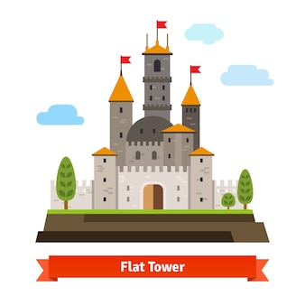 Forteresse médiévale avec des tours
