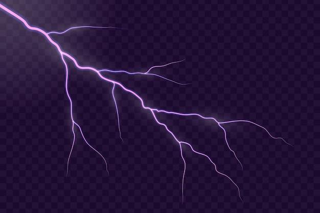 Foudre électrique tempête éclair flash.