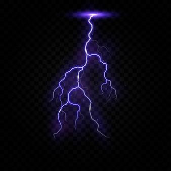 Foudre orage électrique vecteur boulon png orage effet de lumière ciel flash graphique isolé réaliste arrière-plan électrique ensemble énergie orageux grève coup de tonnerre transpa