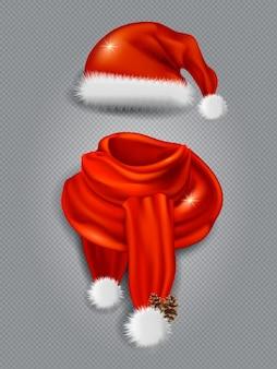 Foulard en soie rouge réaliste 3d