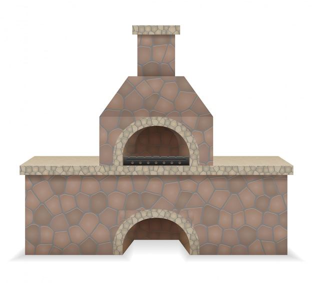 Four à barbecue en pierre