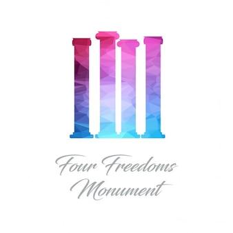 Four freedoms monument monument polygon logo