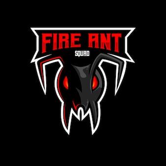 Fourmi mascotte logo mascotte esport gaming