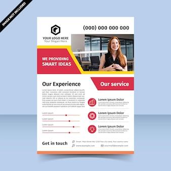 Le fournisseur apporte une idée intelligente pour les entreprises, la conception de modèles de flyer