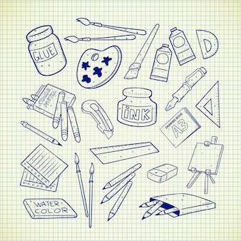Fournitures d'art doodle