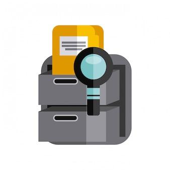 Fournitures de bureau icônes définies