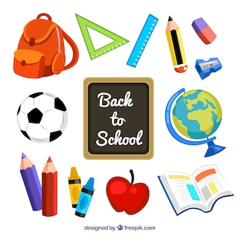 Fournitures de retourner à l'école