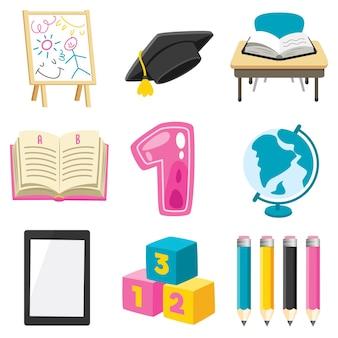 Fournitures scolaires pour l'éducation des enfants