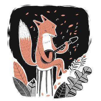 Fox jouant de la musique
