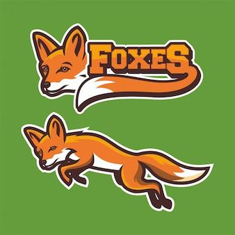 Fox logo design sports vector illustrations