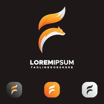 Fox logo résumé lettre f