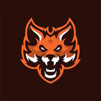 Fox mascot head sport logo