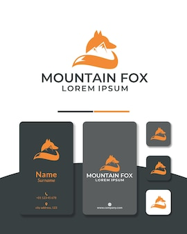 Fox montagne logo design animal sauvage forêt