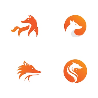 Fox vector illustration silhouette icône design