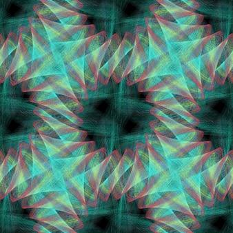 Fractal design fond coloré